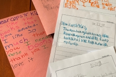 Thank you notes from children