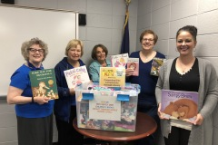 Lower Makefield Police Department Donation Bin overflowing with beautiful books.