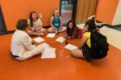 Writing poetry at summer camp!